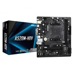 ASRock Płyta główna A520MHDV AM4 2DDR4 HDMI DVI VGA M.2 mATX