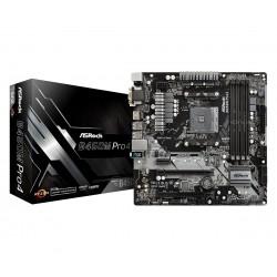 ASRock Płyta główna B450M PRO4 AM4 4DDR4 HDMI VGA DVI M.2 micro ATX