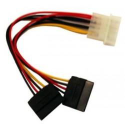 Gembird Kabel SATA zasilający 0,15M MOLEX->SATAx2