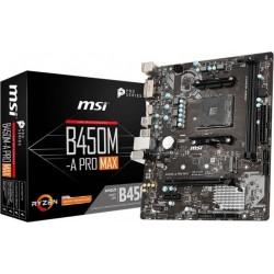 MSI Płyta główna B450MA PRO MAX AM4 2DDR4 DVI HDMI M.2 uATX