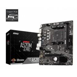 MSI Płyta główna A520MA PRO AM4 2DDR4 DVI HDMI USB 3.2 mATX