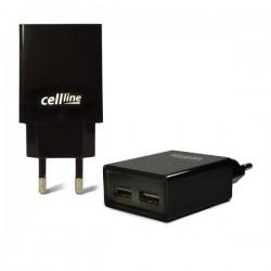 Cellline Ładowarka sieciowa 2xUSB 2A czarna