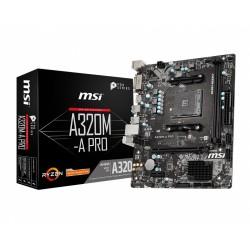 MSI Płyta główna A320MA PRO AM4 2DDR4 DVI HDMI mATX