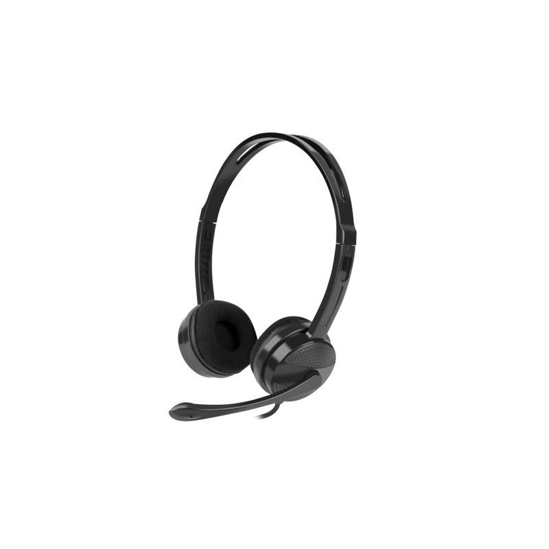 NATEC Słuchawki Canary Go z mikrofonem Czarne